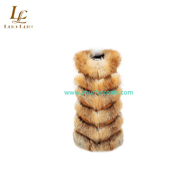 100% Real Fox Fur Vest Natural Whole Fox Fur Vest Gilet Women Regular Standard Covered Button Design Jackets Coat Plus Size 3XL