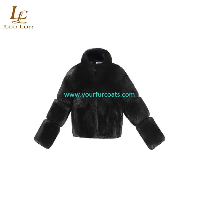 Women Real Fox Fur Coat Winter Fur Jacket Short Outerwear Natural  Fur Coats for Women Plus Size
