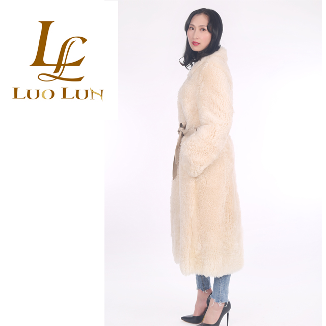 long white Cow Pattern Lamb Fur Down Coat For Women Winter Sheep Fur Down Jacket Original Real Fur Warm Outwear