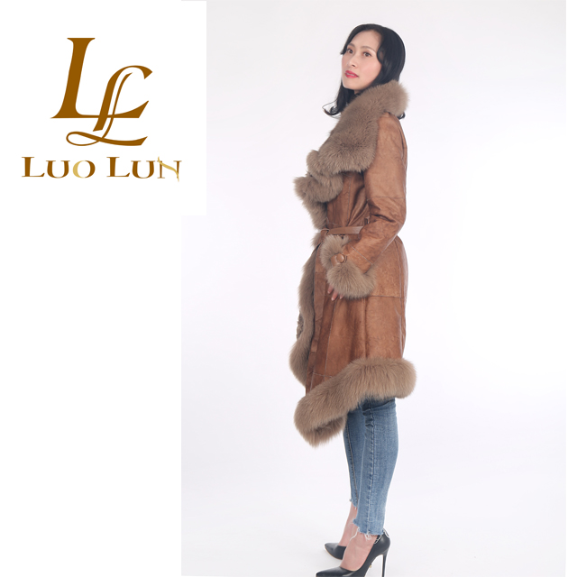 Fox Fur Coat Hot Style Holland Sheepskin Fur Jacket Winter Women's Sheep Fur