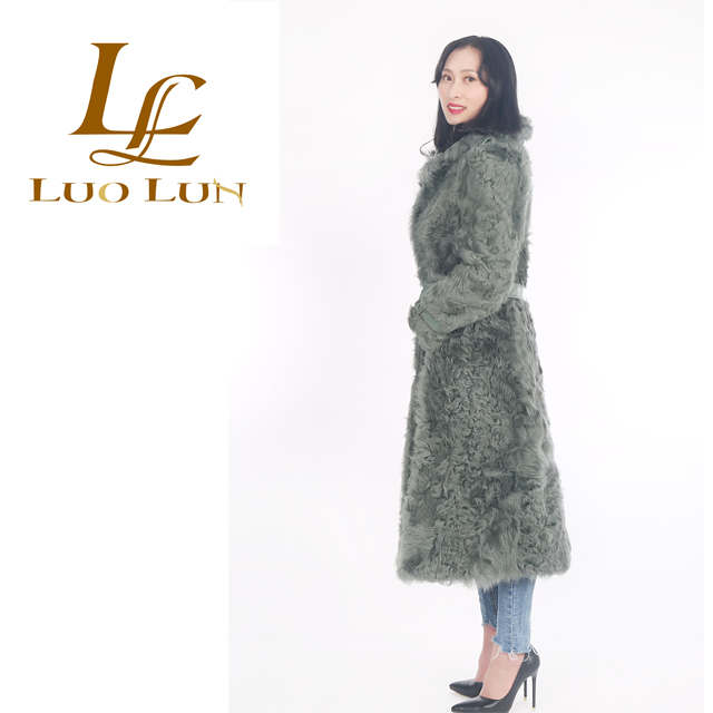 New Design Hot Sale Top Quality Turkish Sheepskin Coats High quality ladies one whole skin lamb fur coat