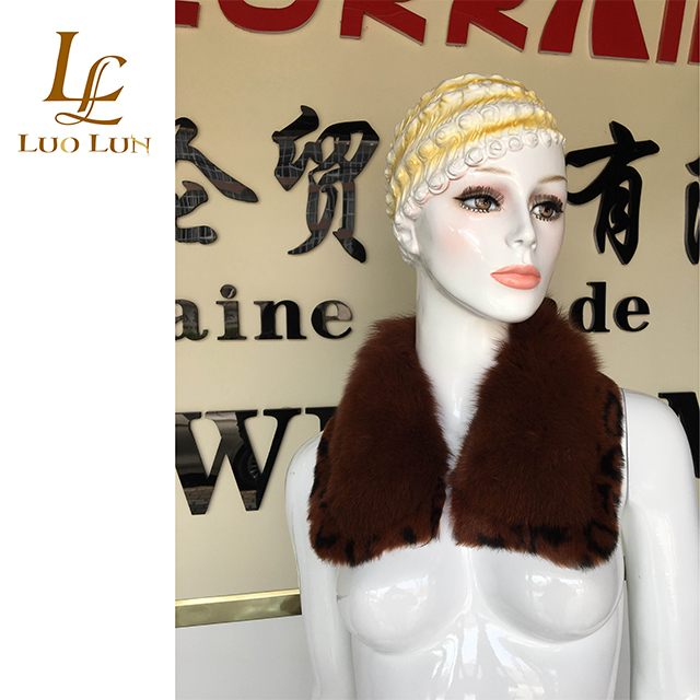 High quality fashion dyed real fox fur collar joint colorful fox fur collar for jacket or coat
