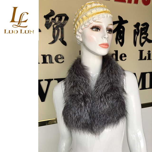 Factory wholesale Raccoon Fur Natural  Large Fur Collar