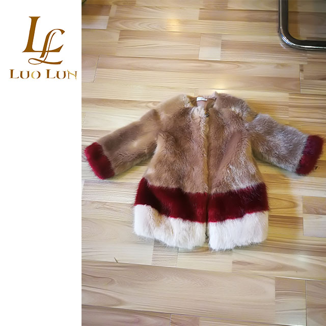 2018 popular Winter Imitation mink children faux mink fur coat