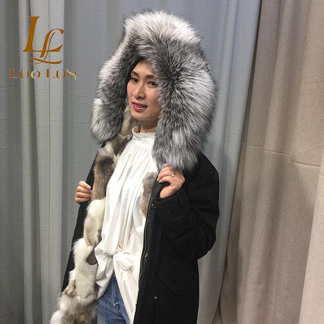 430dea778 hot selling cheap fox fur lining jeans parka with raccoon fur collar ...
