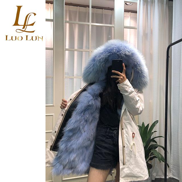 1d72c8d91 New Design Fox Fur Collar Coat and Fox Fur Lining Parka,Fur Parka ...