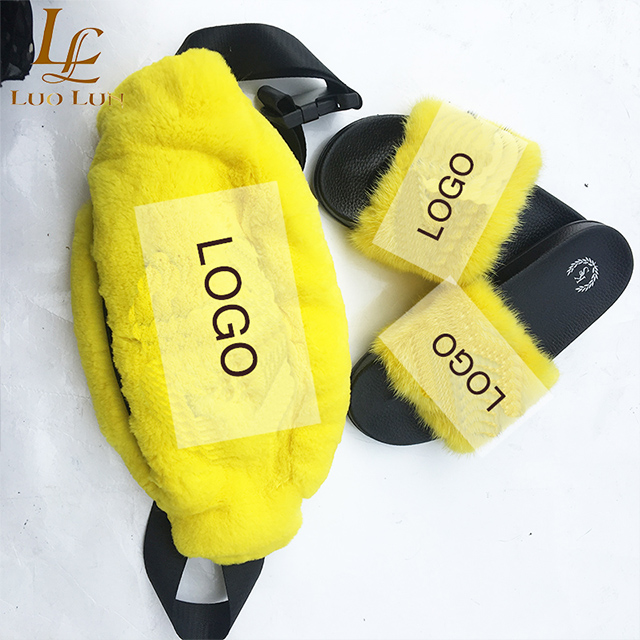 Womens Fur Slippers Winter Shoes Big Size Home Slipper Plush  Women Indoor Warm Fluffy  Cotton Shoe