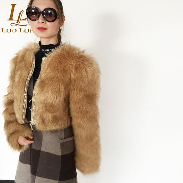 HOT sale Women jacket Long Sleeve Faux Fur Ladies Warm Short Fur Coats