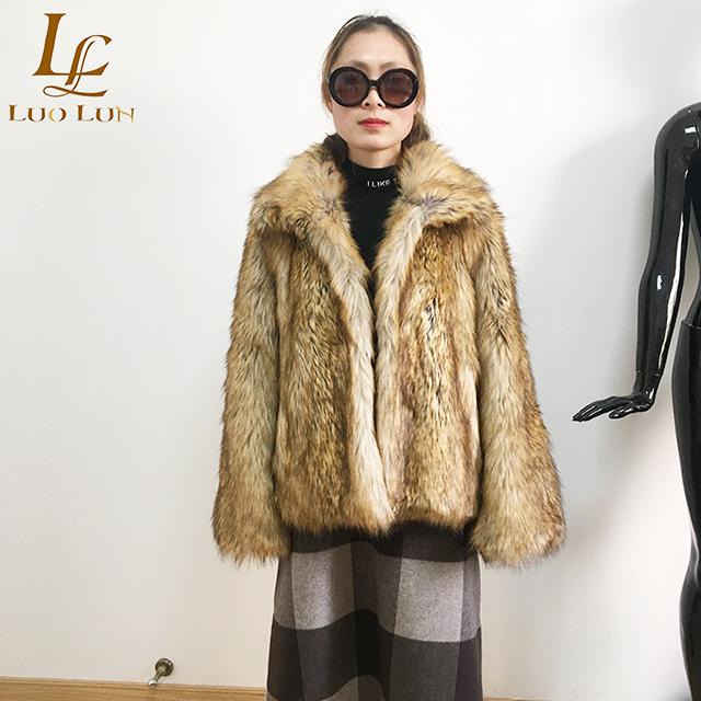 Ladies faux fur coat  winter coats for women