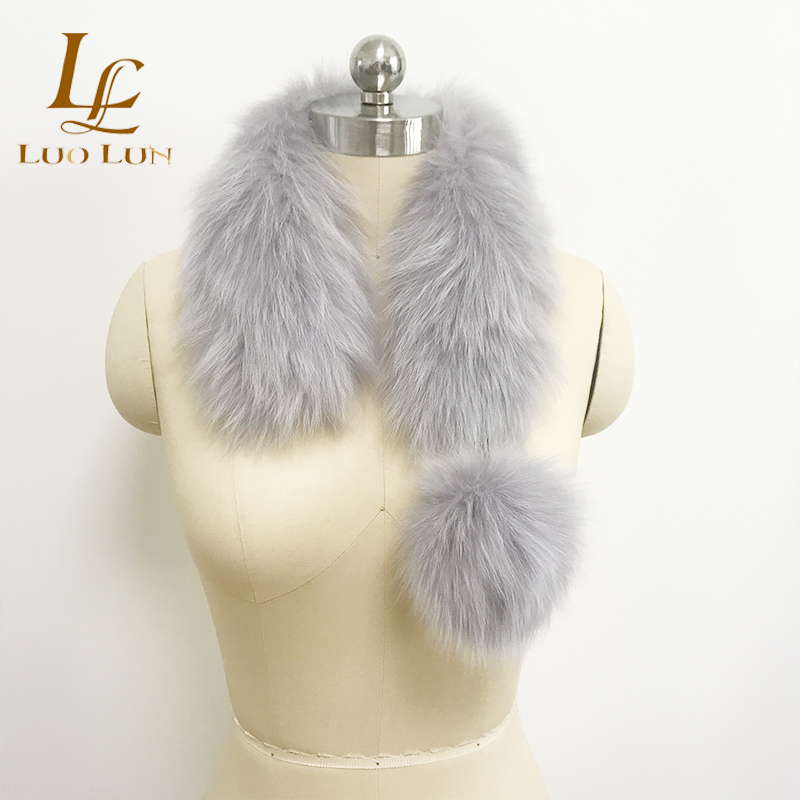Wholesale Rabbit fox Fur Scarf Neckerchief Women Clothing Accessories racoon fur scarf