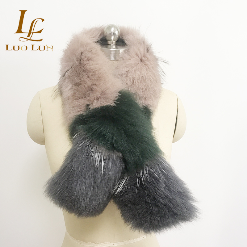 Factory Wholesale Women Fashion European Fox Fur racoon Fur Scarf